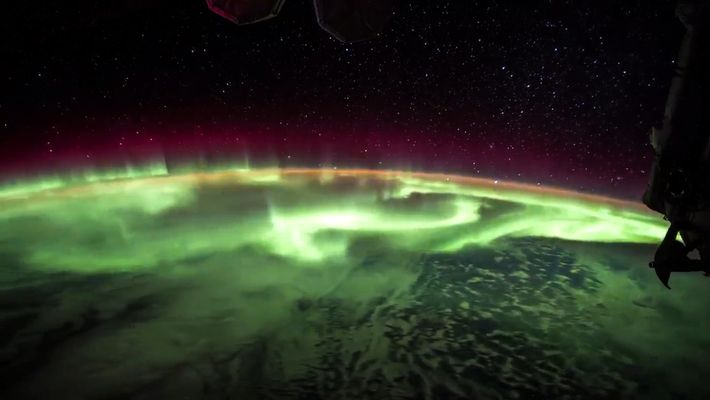 Este time-lapse muestra la aurora boreal desde la Estación Espacial Internacional