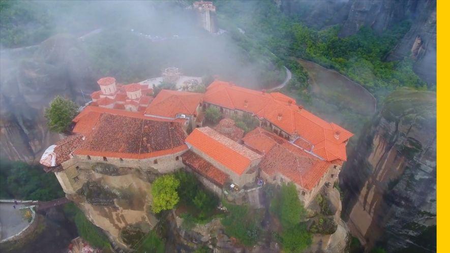 Los monasterios de Meteora, construidos sobre megalitos de 60 millones de años