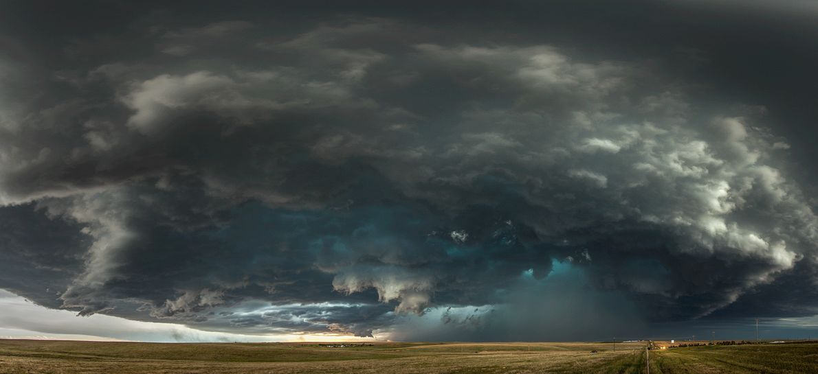 Imagen de nubes de tormenta en Colorado