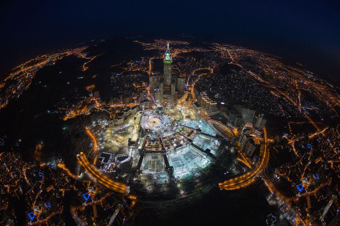 Foto de La Meca por la noche desde arriba