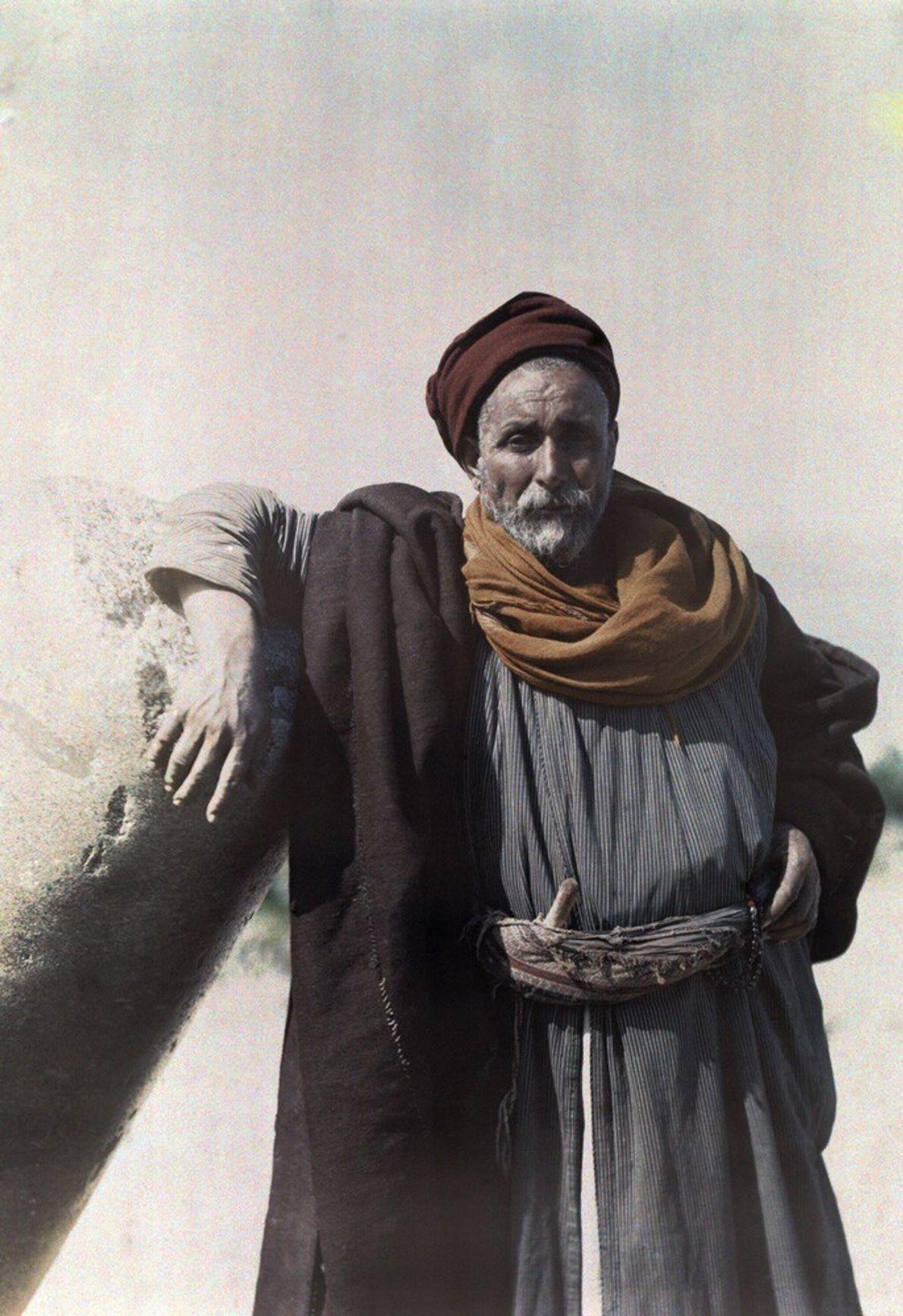 Jefe de una tribu nómada beduina