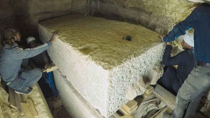 Tapa de sarcófago