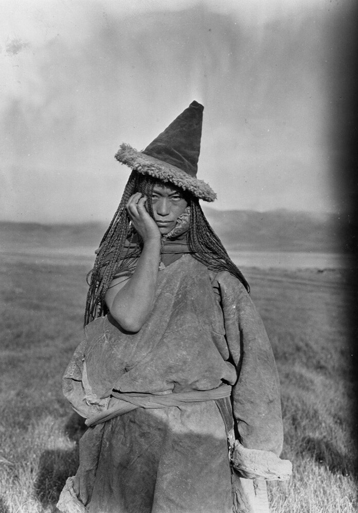 Una mujer nómada tibetana