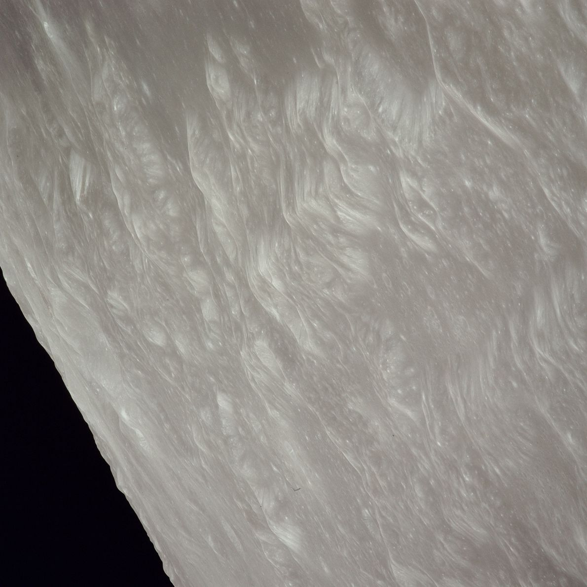 La superficie de la Luna.