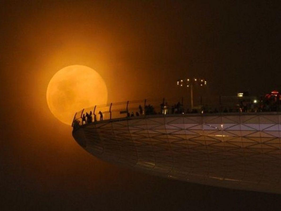 Desde la terraza de Marina Bay Sands, Indonesia