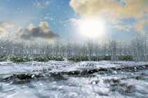 Animación virtual del solsticio de invierno