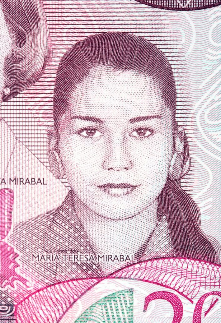 María Teresa Mirabal en el billete de 200 pesos de la República Dominicana