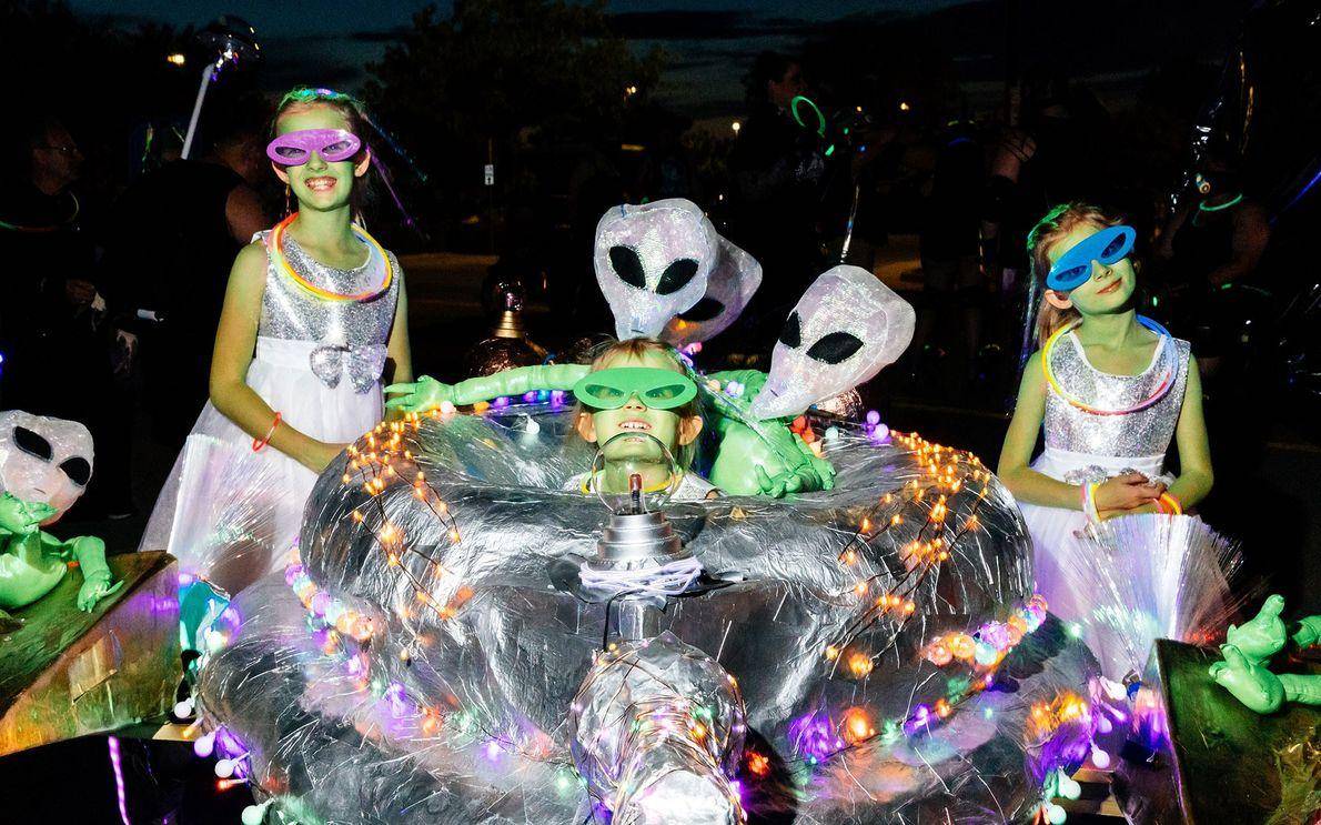 UFO Festival Light Parade