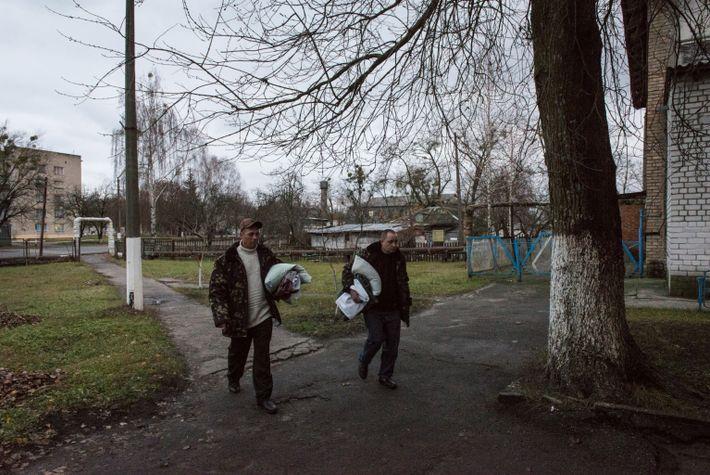 Trabajadores en Chernóbil