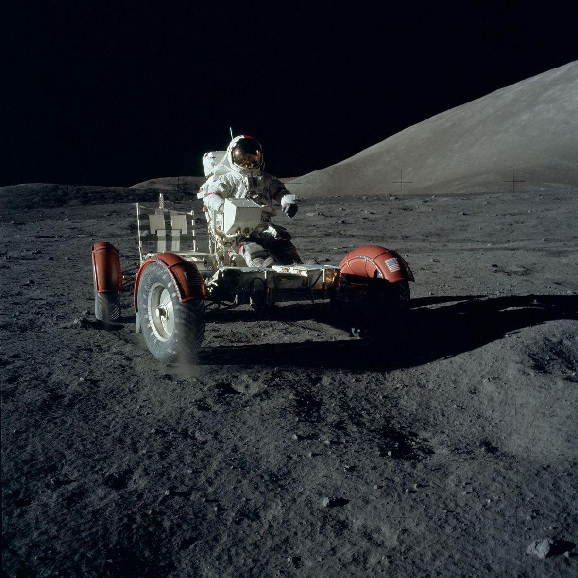 El rover lunar de la misión Apolo 17