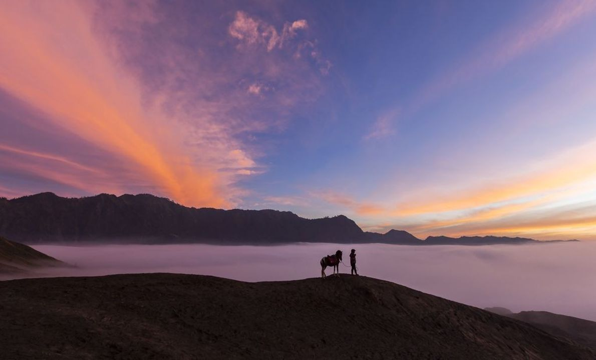 Los amaneceres en el monte Bromo