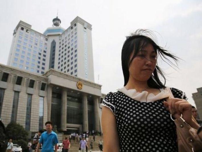 Tang Hui fue encarcelada en un campo de trabajo chino después de protestar por la violación ...
