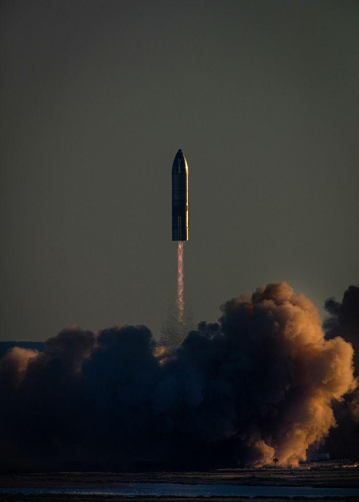 El prototipo del cohete Starship de SpaceX
