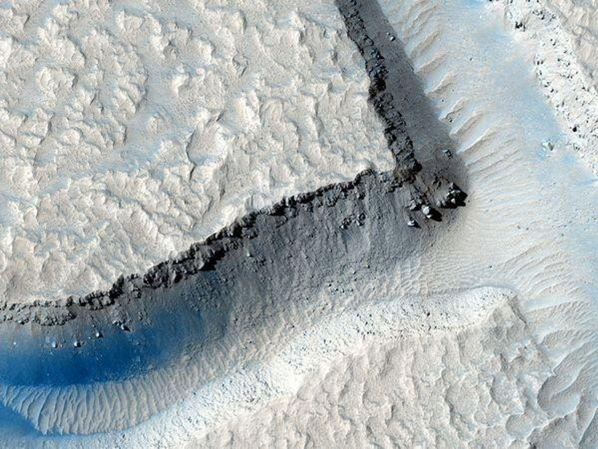 Fracturas en el cañón marciano