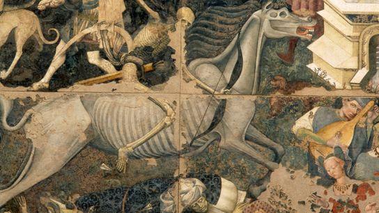 Fresco italiano del triunfo de la Muerte