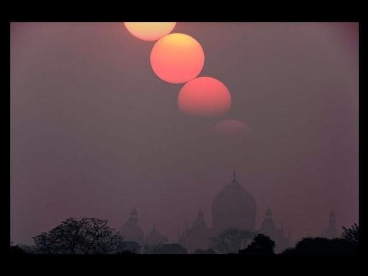 Sorprendente puesta de sol