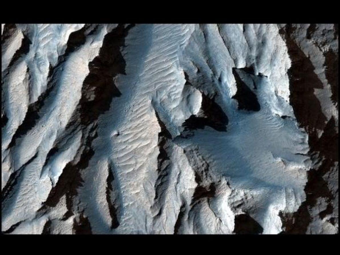 Luz en los cañones de Marte