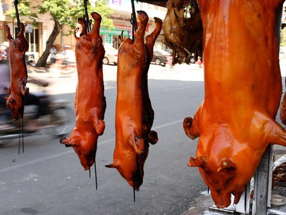 Cerdos asados, Camboya