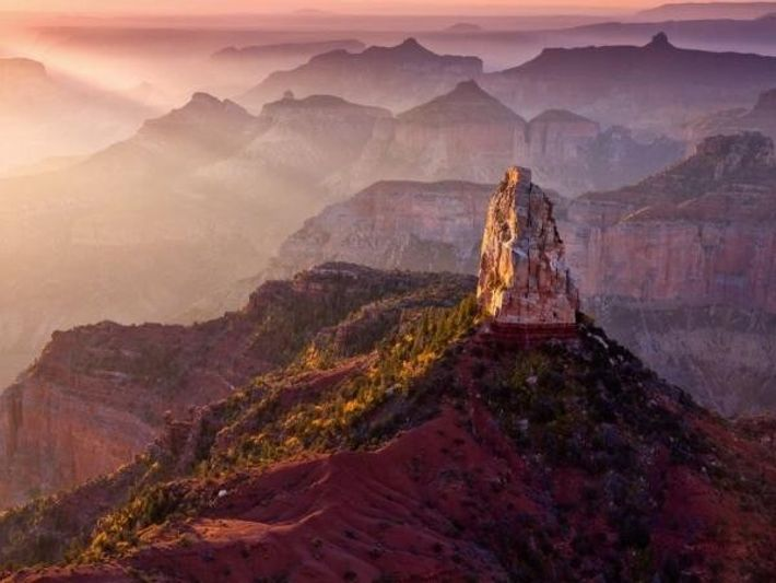Amanecer en el Monte Hayden (Gran Cañón).
