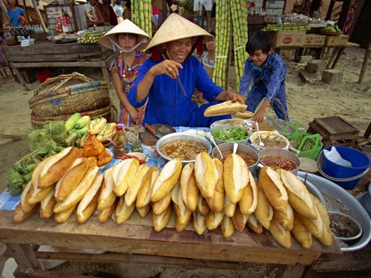 Sandwiches Banh Mi, Vietnam.