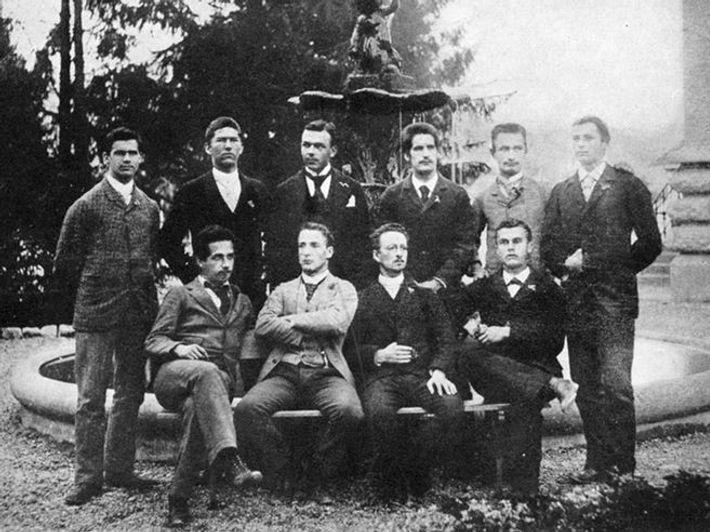 Einstein con su clase