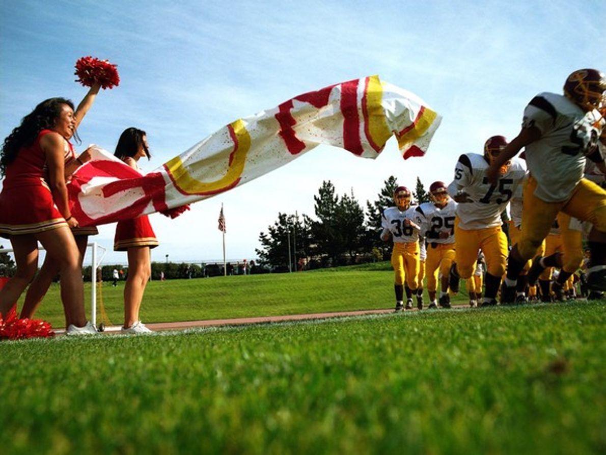 Equipo de fútbol americano de un istituto
