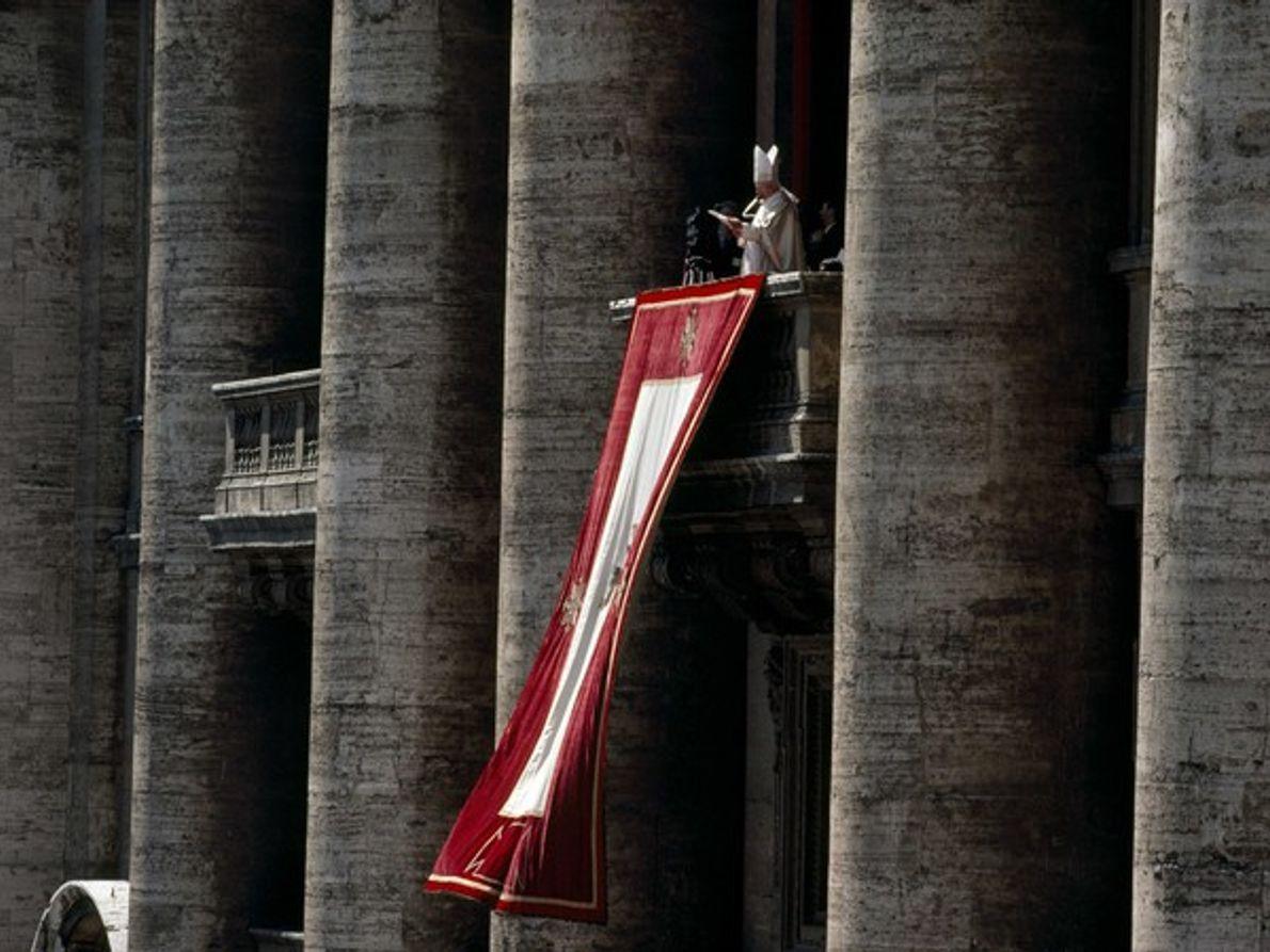 El Papa Juan Pablo II en día de Pascua