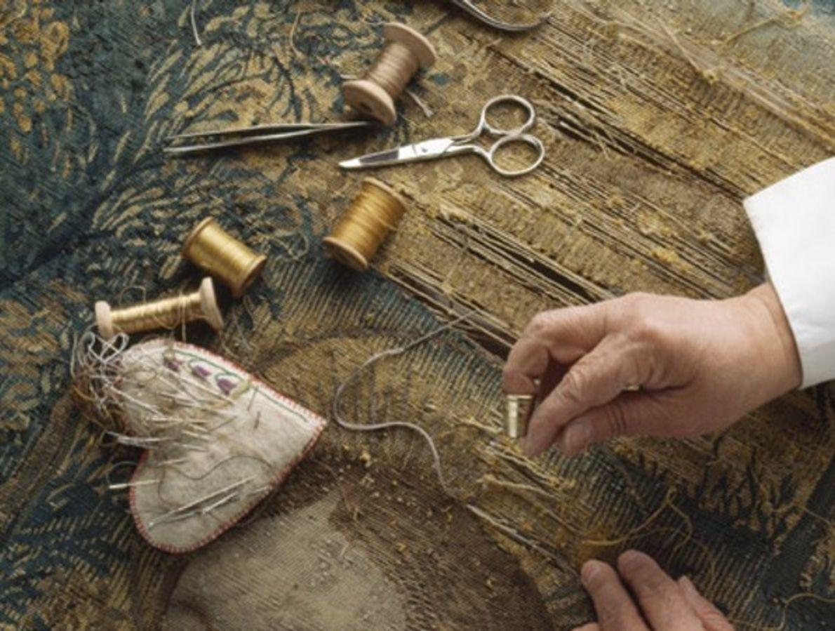 Restaurando una pintura de Rafael