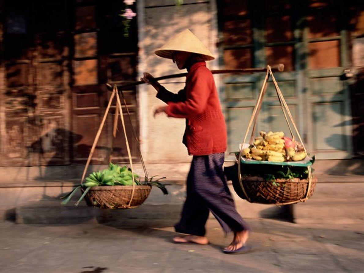 Vendedor ambulante de Hôi An