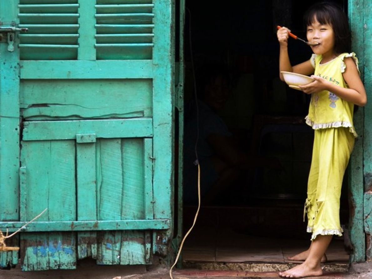 Niña de la ciudad Ho Chi Minh