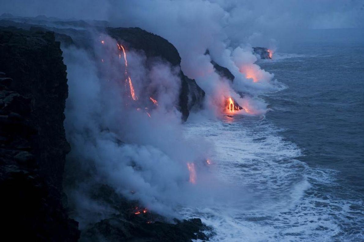Parque Nacional de los Volcanes en Hawái