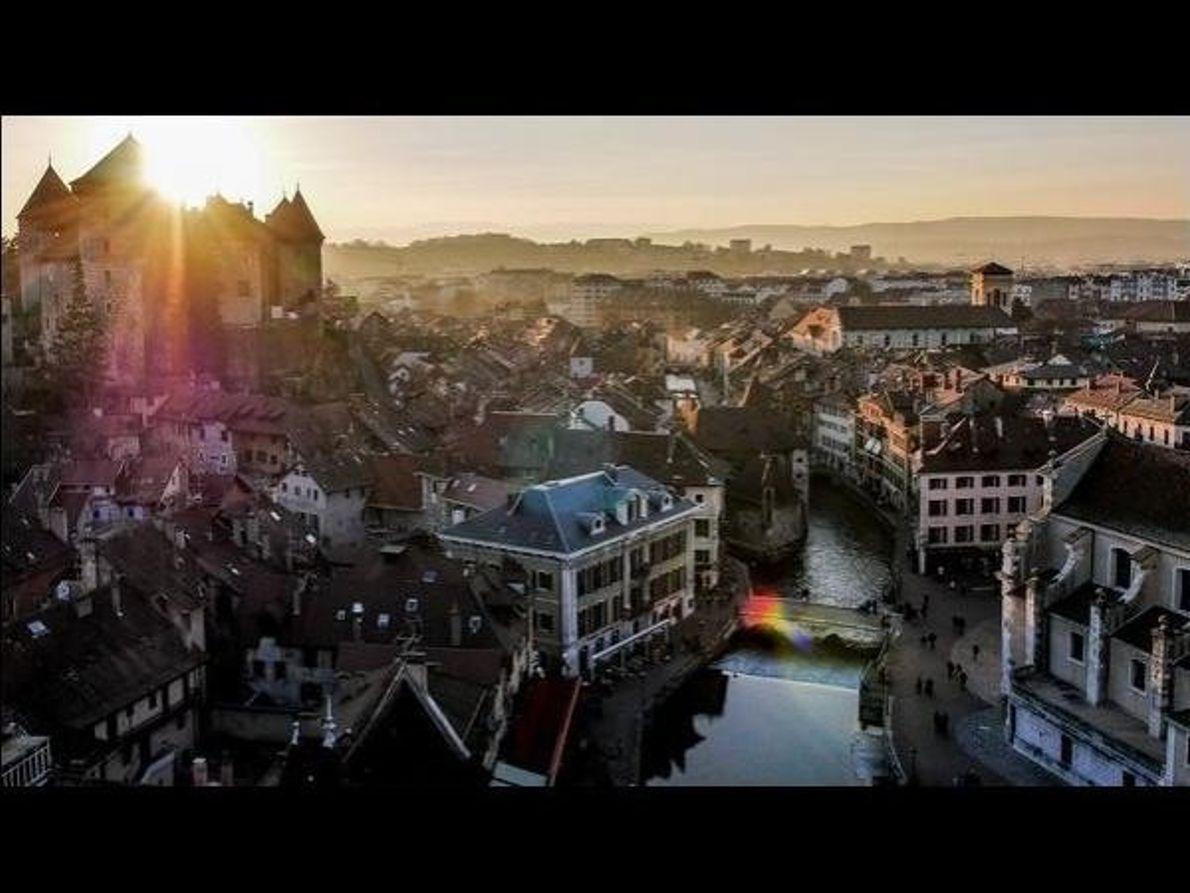Puesta de sol en Annecy