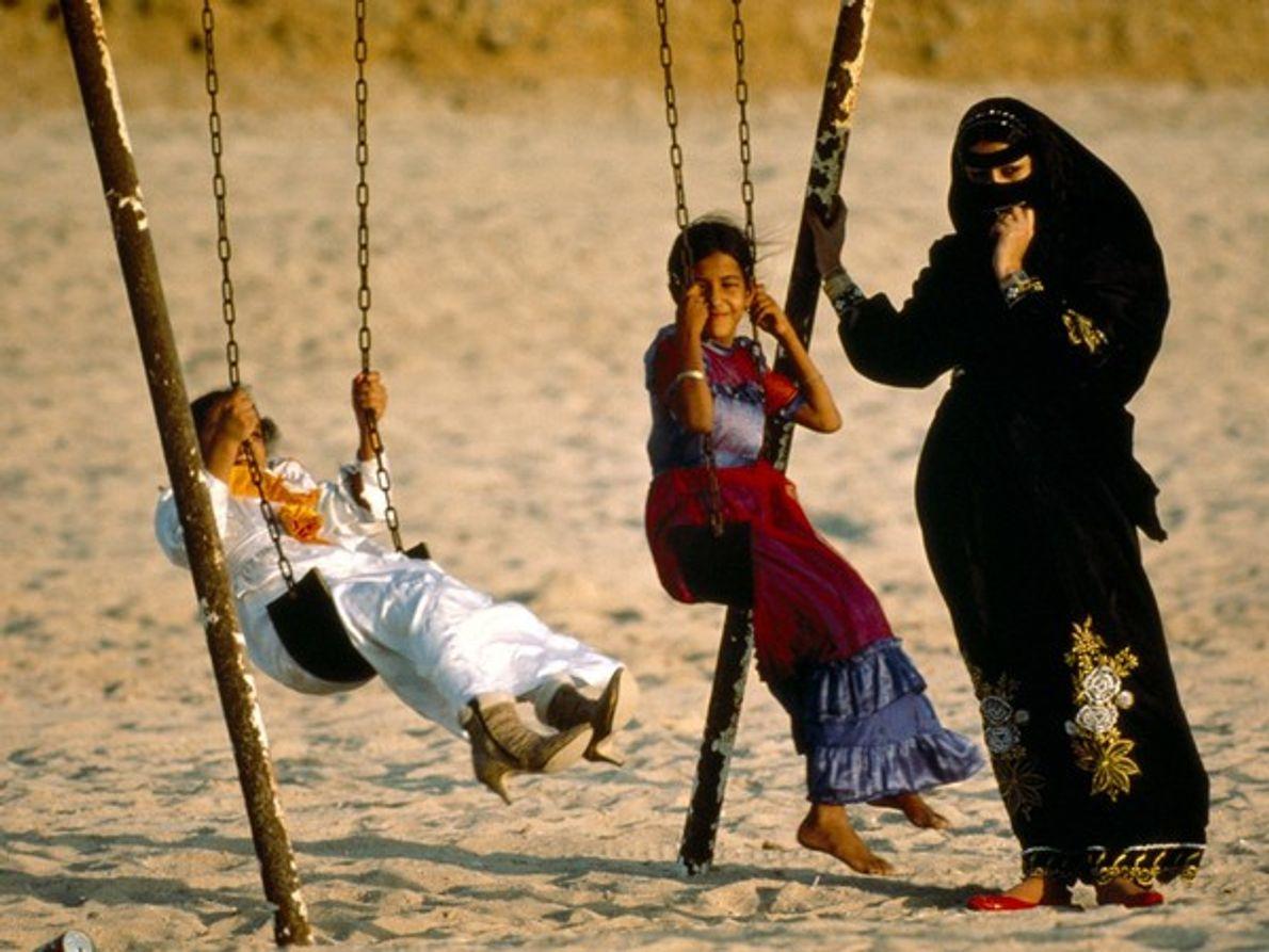 Mujeres y niños en Jiddah