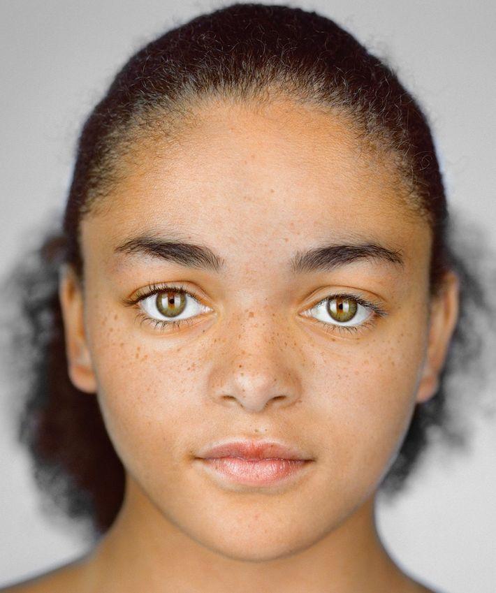 Imani Cornelius, 13 años, Shakopee, Minnesota. Auto ID: blanco y negro/Casilla del censo elegida:negra/ Imani, que ...
