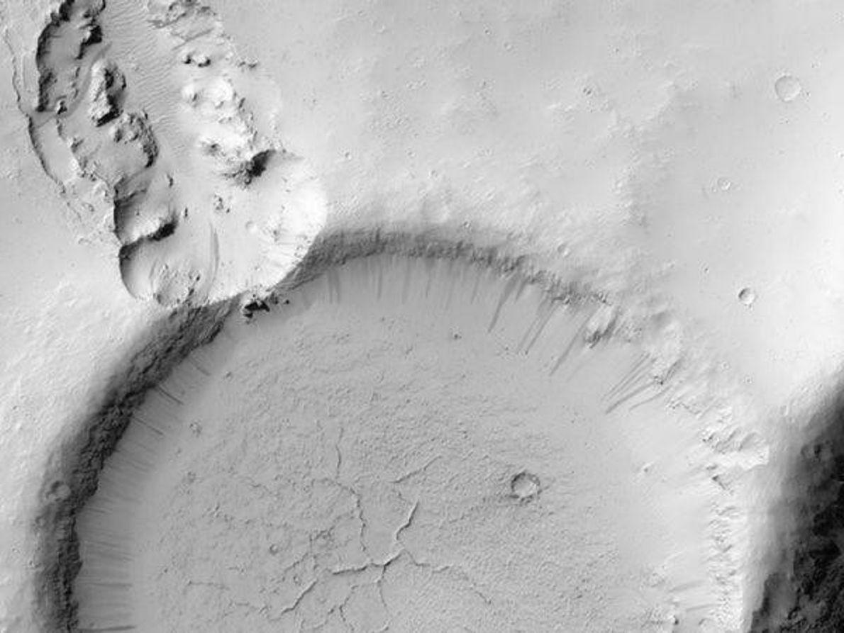 Cráter en Marte