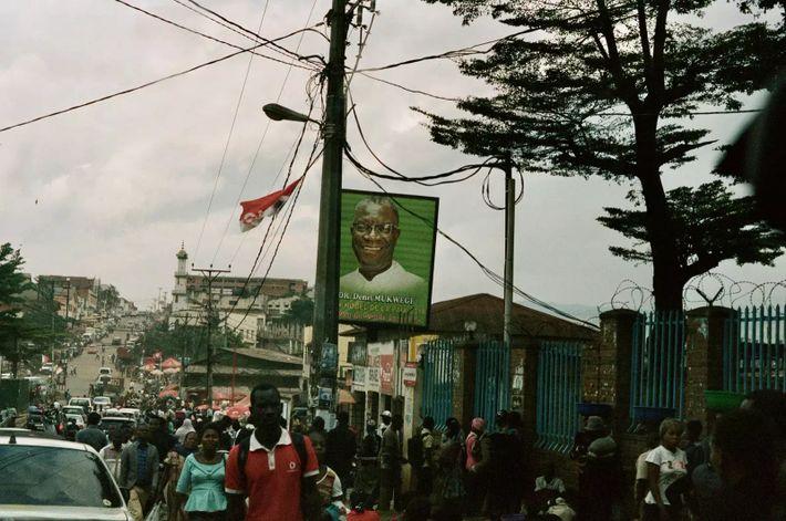 El Dr. Denis Mukwege en un cartel