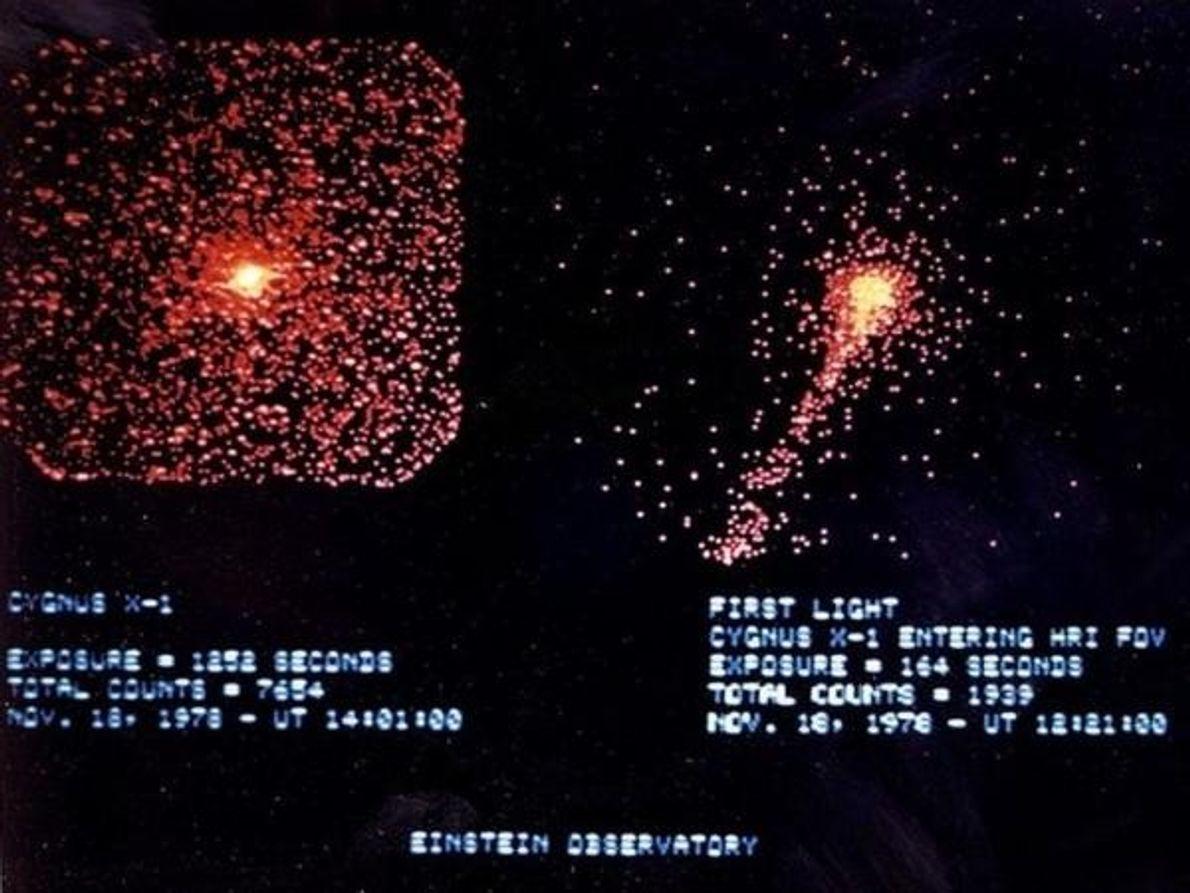 Tomada por el Observatorio Einstein de la NASA, esta imagen es una de las primeras fotografía …