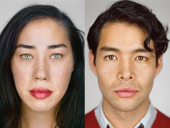 Izquierda: Julie Weiss, Hollywood, California/ Auto ID: Filipino, Chino, Español, Indio, Húngaro y Judío Alemán./Casillas del ...