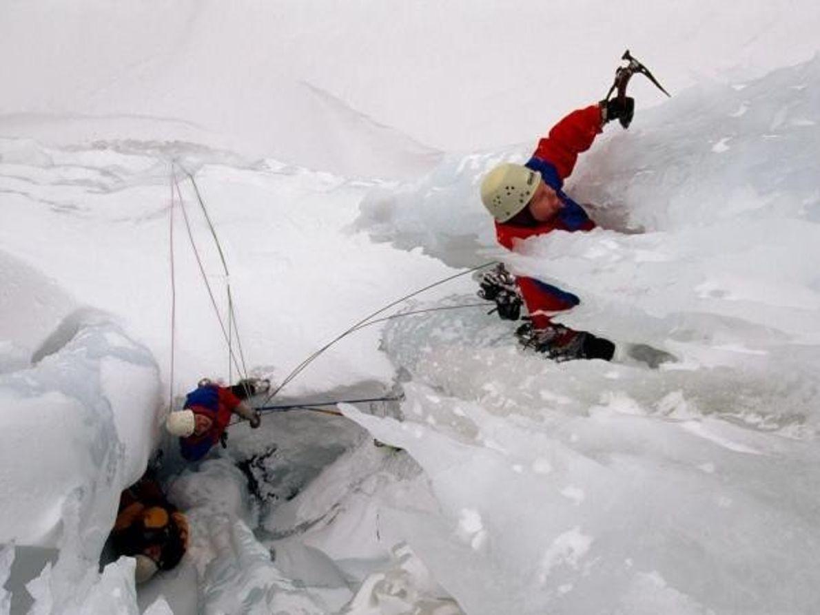 Los escaladores del hielo