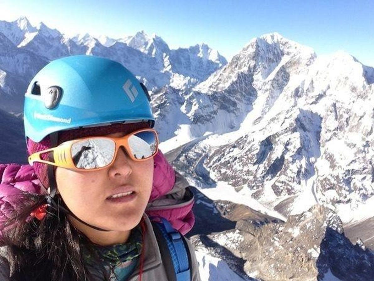 Selfie en el pico Lobuche