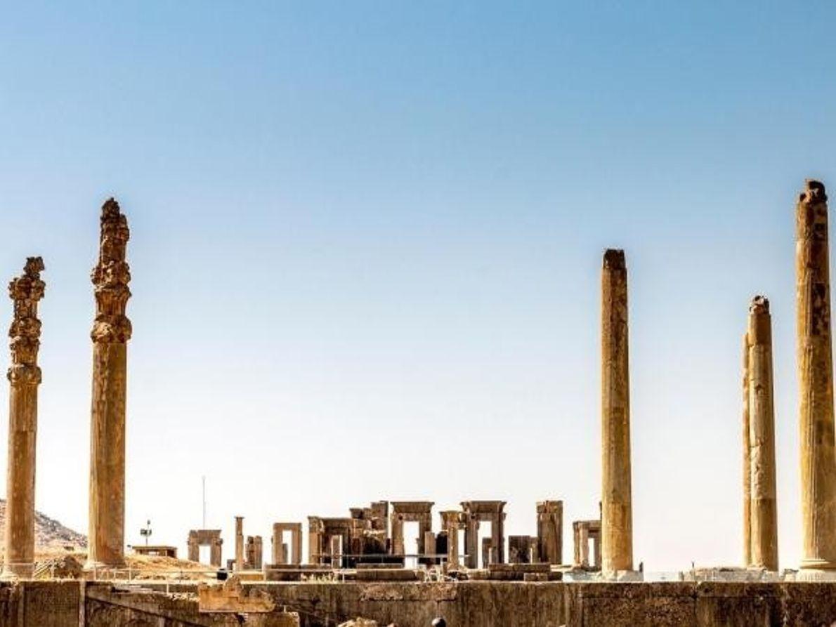 Antigua ciudad de Persépolis en Irán, cerca de Shiraz