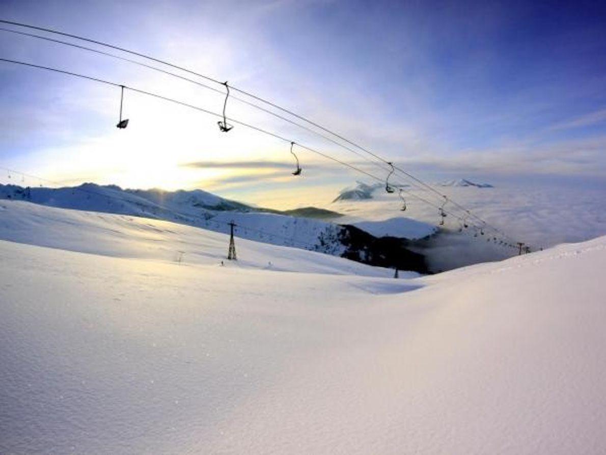 Laderas para practicar esquí en Brezovica, Kosovo