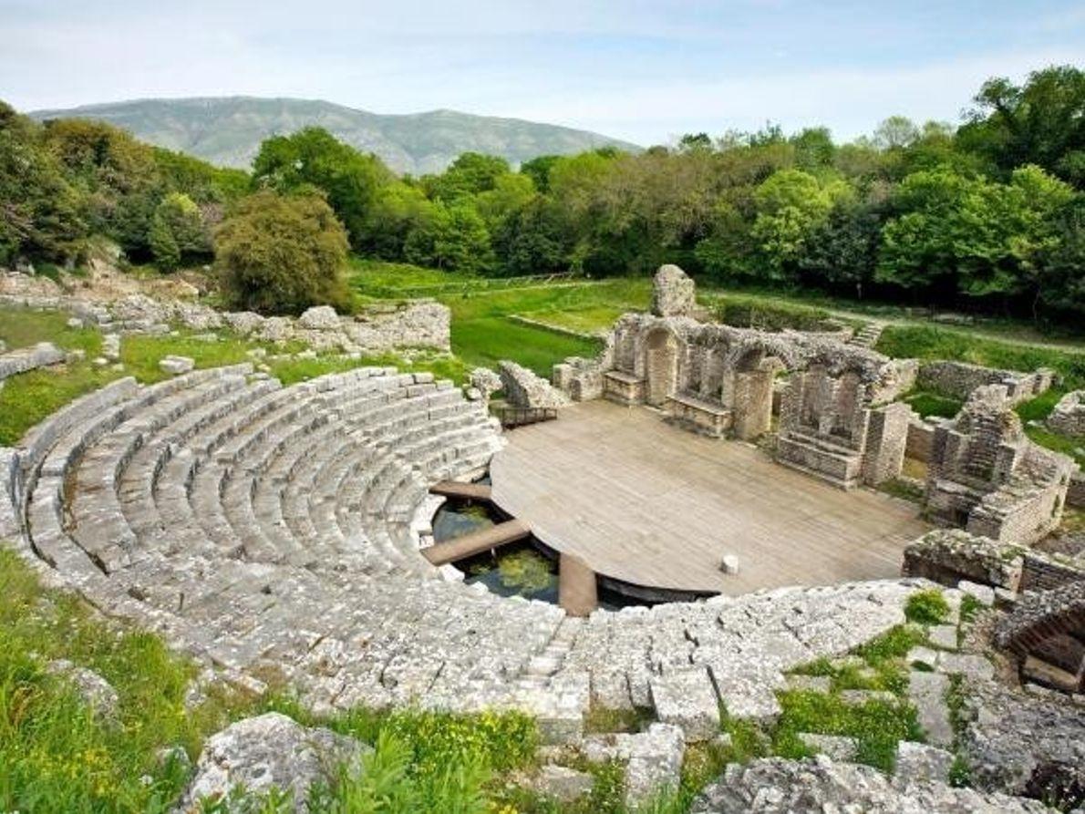 Emplazamiento Patrimonio de la Humanidad en Butrinto, Albania
