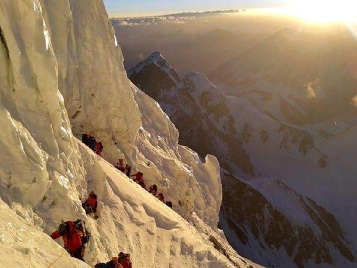 El amanecer en el K2