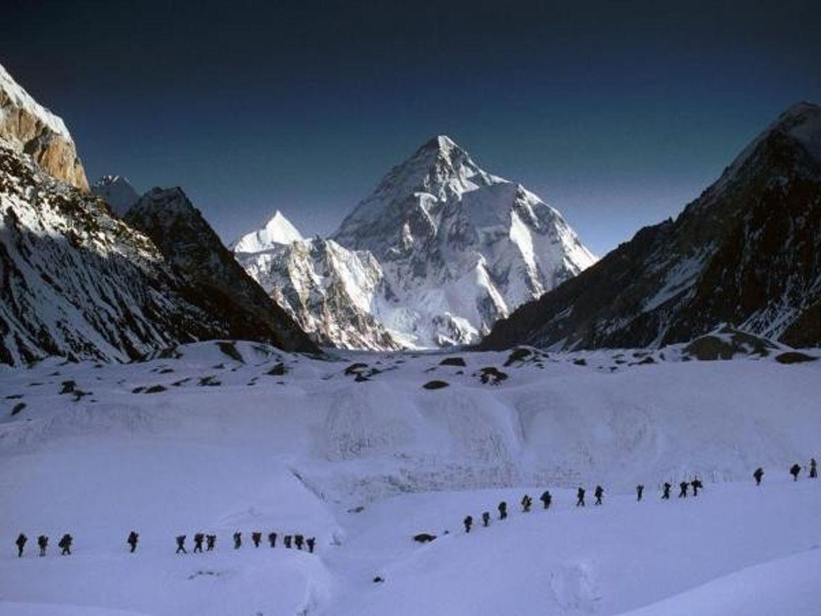 Un grupo de alpinistas en el K2