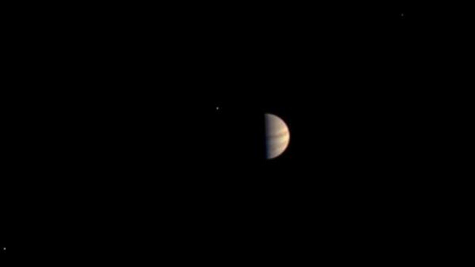 Esta fue la última imagen de Júpiter tomada por la nave Juno antes de apagar su ...