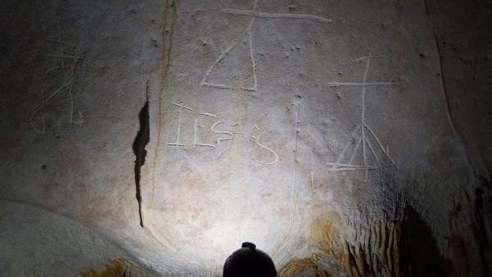 En esta imagen tomada en una de las numerosas cuevas de la isla de la Mona ...