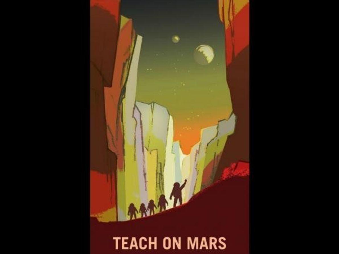 Una excursión con el colegio... en Marte