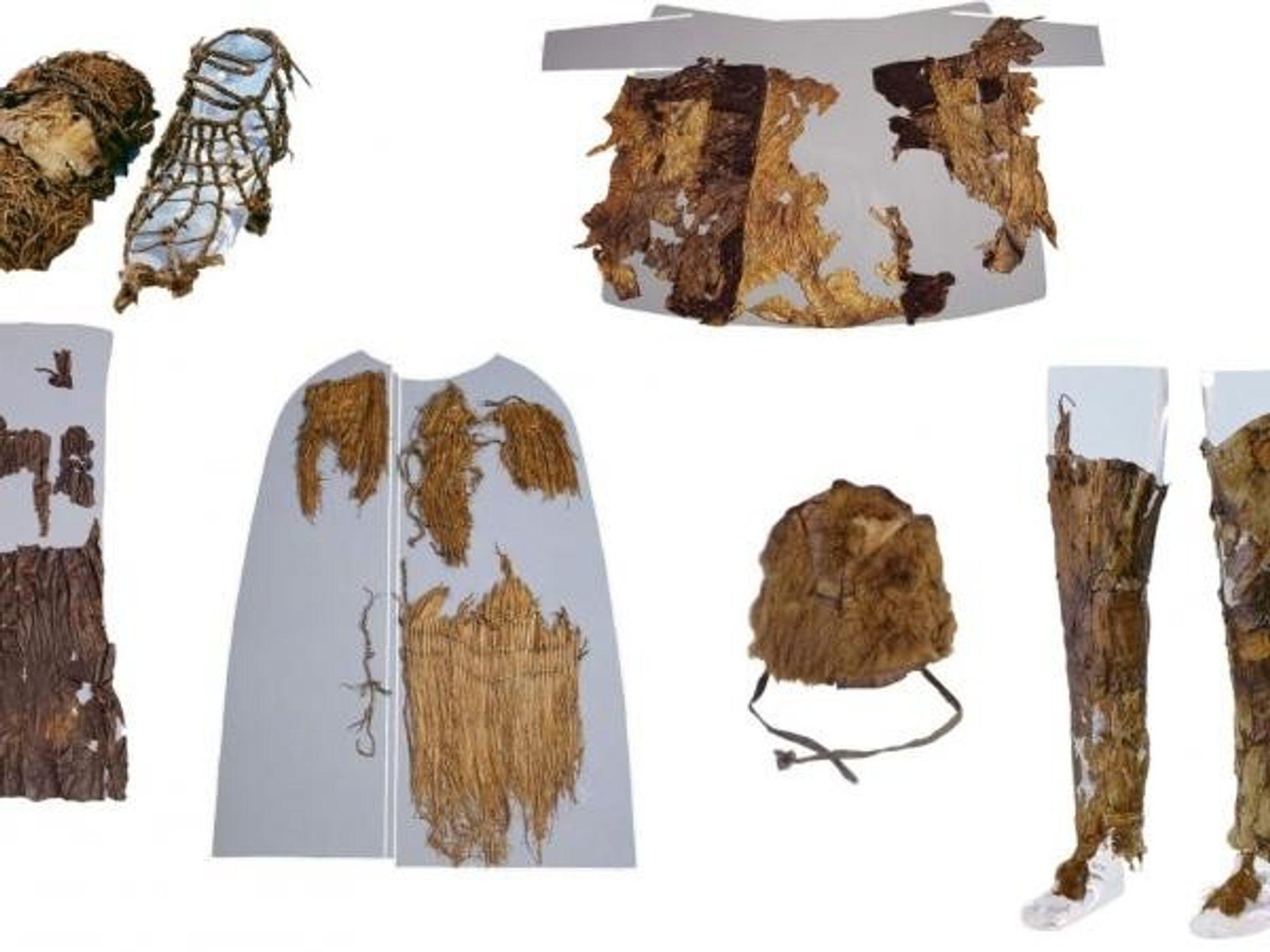 Esta era la vestimenta de Ötzi, el Hombre de Hielo, hace 5.300 años.