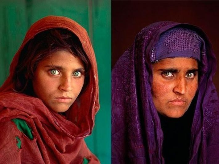 La niña afgana que protagonizó la icónica portada de la revista National Geographic en 1985 ha ...